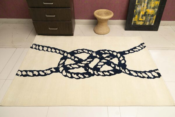 knot hand knotted custom rug