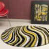 swirl hand knotted rug
